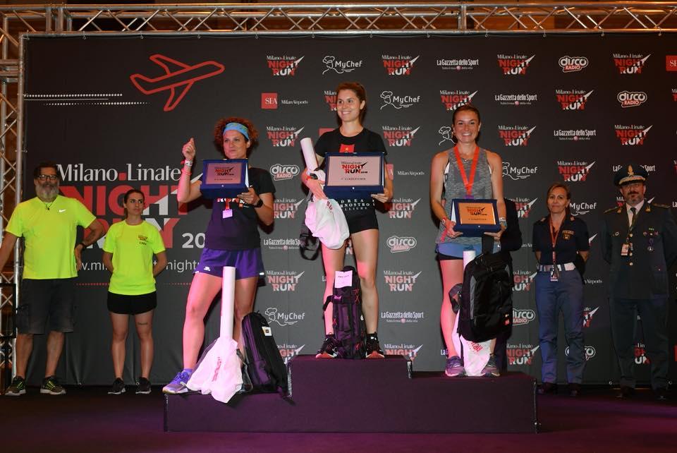 podio femminile milano linate night run