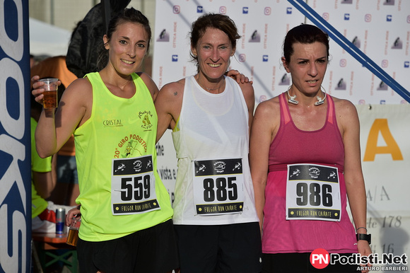 podio femminile fulgor run 2018