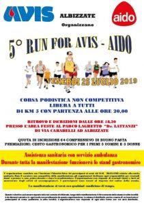 Run for AVIS - AIDO @ Albizzate - Parco al laghetto