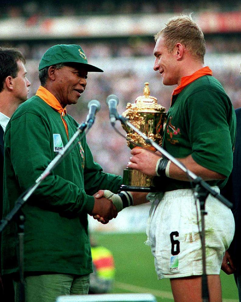 Nelson Mandela springbok rugby sudafrica
